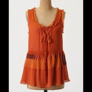 NWT Anthropologie Floreat Sleeveless Silk Blouse